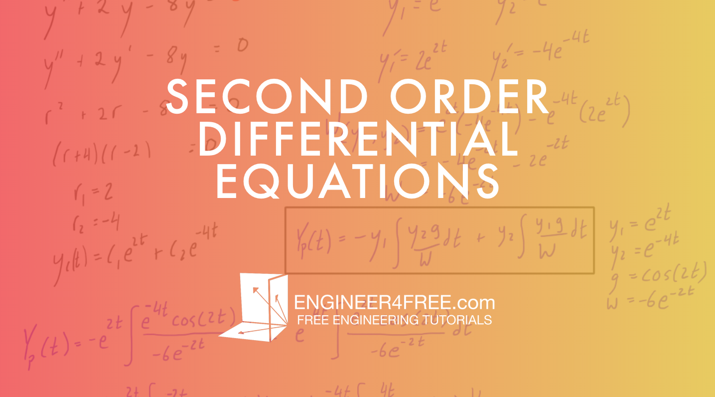 Second Oder Differential Equations Tutorials